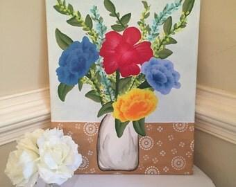 Vase of flowers 16X20