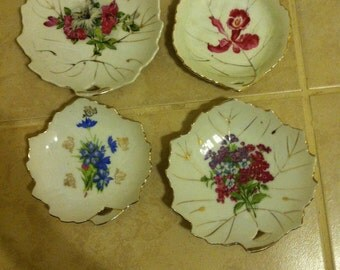 Vintage leaf shaped china