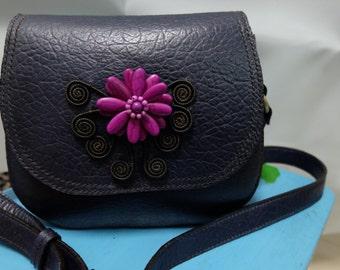 Leather handmade shoulder bag