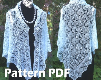 Princess Astrid II Shawl Estonian Lace Shawl Pattern Lace Knitting PATTERN PDF, Knitted Shawl Tutorial, Lace Shawl Pattern, Instant download