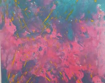 wax crayon painting