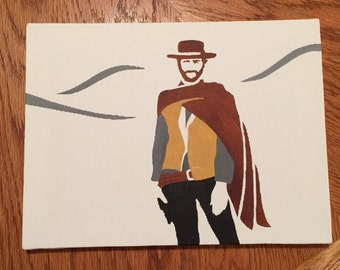 The Good the Bad and the Ugly 9x12 inch painting