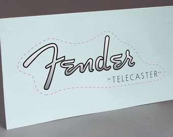 Fender Telecaster 1950-54 precut water slide decal headstock for restoration