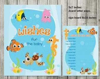 finding nemo wishes for baby nemo birthday boy girl invitation ocean