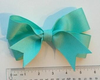 Teal Pinwheel Bow