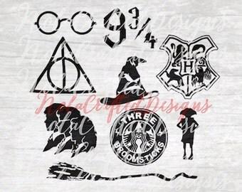 Harry Potter SVG - Sorting Hat SVG - Hogwarts Crest SVG - Dobby svg