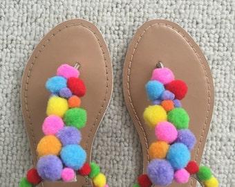 Pompom shoe sandal - flip flop
