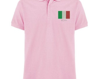 Polo Original embroidery with the flag of Italy