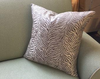 "Pillow Sham Cover - Zebra Print 20"""