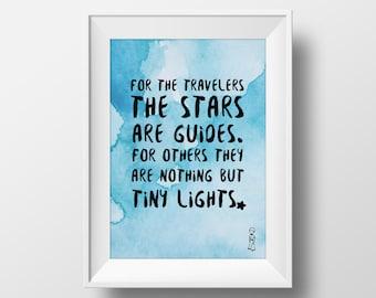 Little Prince (Le Petit Prince) - Quote Print, A4