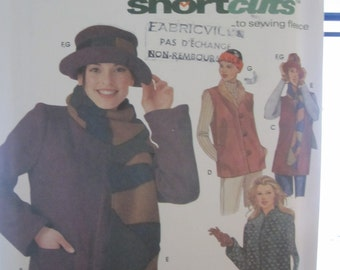 Patterns Simplicity 9820 headband and hat coat Womens size xs-s-m