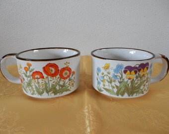 Two vintage soup bowls