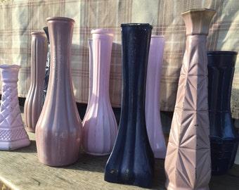 Rustic Wedding Centerpiece Vases, Wedding Decor, Home Decor, Navy Wedding, Blush Wedding, Pink Wedding
