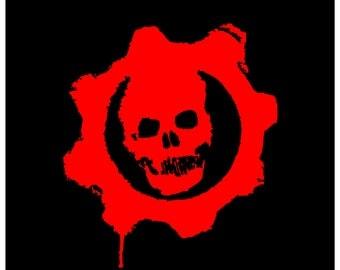 Gears of War Vinyl Decal