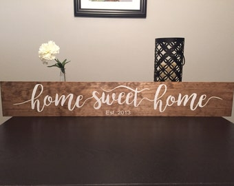 "Home Sweet Home (36"") Wooden Sign"
