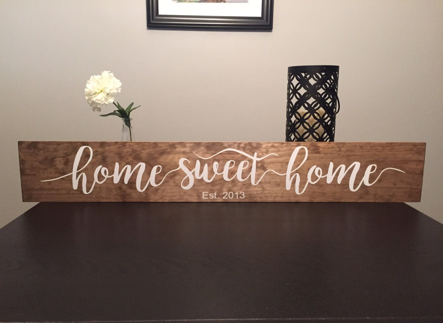 home sweet home 36 wooden sign. Black Bedroom Furniture Sets. Home Design Ideas