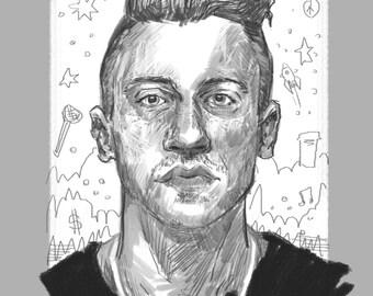 Macklemore | Digital Illustration | A4 Print