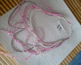 Pink seed beads Pearl Necklace