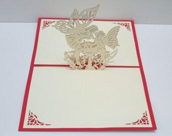 3D Angel Popup Card