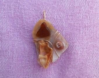 Seashell and Sea Glass Pendant