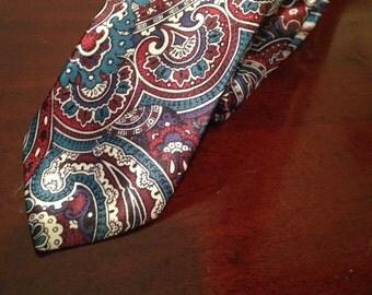Retro Paisley Skinny Tie
