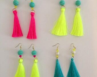 Tassel & Bead Earrings