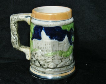 Excellent Pair of Hand Painted Mojelica Beer Steins (2)
