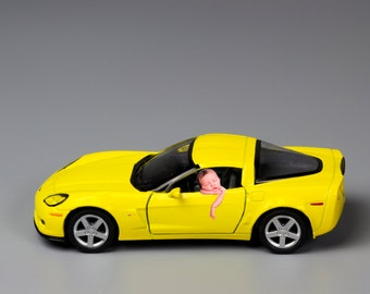 Yellow Corvette, Yellow Car, Car Prop, Newborn Car Props, Newborn Photography, Baby Prop Digital Backdrops, Digital Props