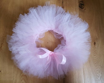 Baby Tutu with ribbon. Handmade tulle skirt. Fluffy Tutu.