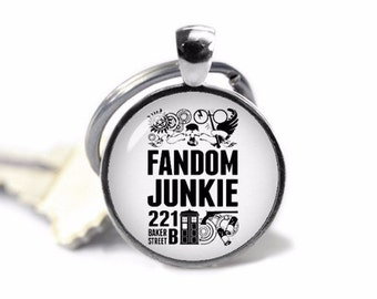 Fandom Jewelry Supernatural Dr. Who Fan Sherlock Key Ring Key Chain Key Fob Geeky Fangirl Fanboy