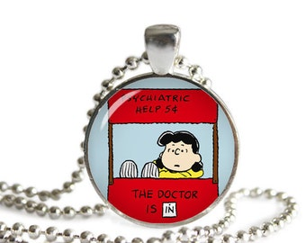 Peanuts Necklace Pendant Snoopy Lucy Charlie Brown Fandom Jewelry Cosplay Fangirl Fanboy