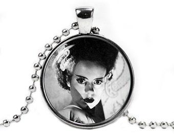 Bride of Frankenstein Necklace Pendant Horror Fandom Jewelry  Geeky Fangirl Fanboy