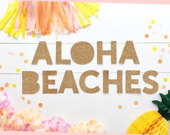 Aloha Beaches Banner | Aloha Beaches | Summer Party Banner