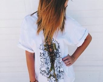 LF Inspired Lace Up Oversized Tee