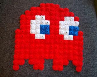Crochet Pixel Pac-Man Ghost