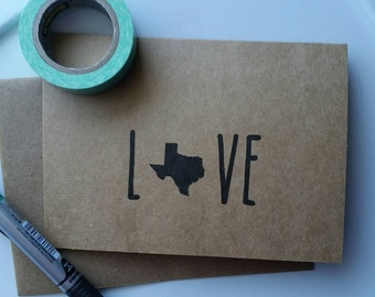 love state kraft paper card & envelope