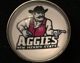 New Mexico State University Aggies Snap - 20mm - Fits all 18mm and 20mm Interchangeable Snap Jewelry