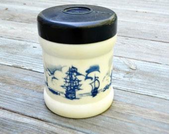 Vintage Valkenswaard Holland Origineel Opaline Tobacco Canister