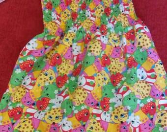 Size 4t strapless shopkins dress.