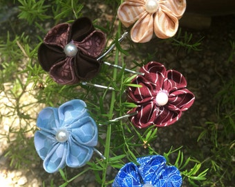 Flower Barrettes (3-set)