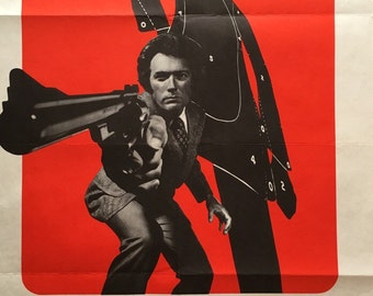 "MAGNUM FORCE 1974 original french movie poster ""Affiche"" (Insert) 23x31 Clint Eastwood as Dirty Harry"