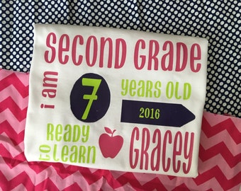 Personalized Back to School Shirt
