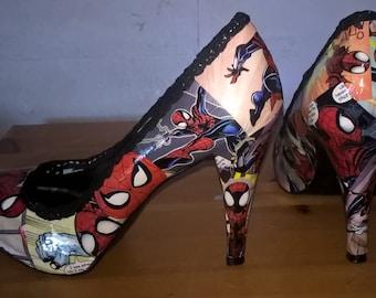 Ladies Spider-Girl ~ Low Heels : Size 4