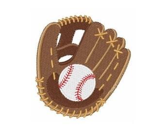 Baseball And Glove - Machine Embroidery Design