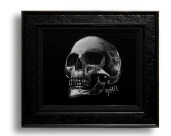 Skull Print 8.5x11 Black and White