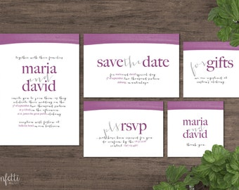 Printable Wedding Invitation (CP001)