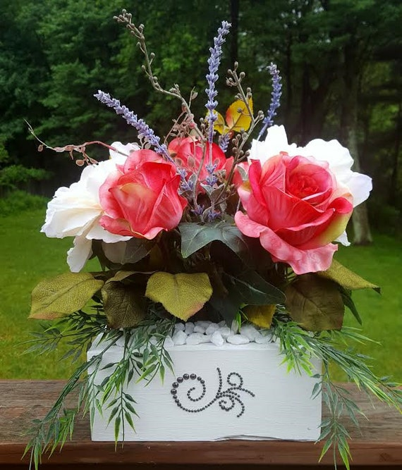 Elegant silk flower centerpiece