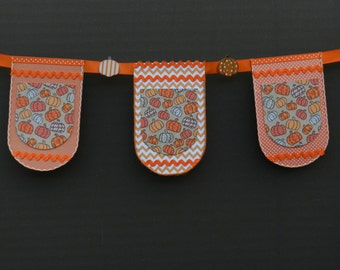 Fall - Pumpkin - Polka - Dot - Banner - Garland - Orange - Home Decor - Home Accent - Wall Hanging