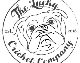 Women's tshirt The Lucky Cricket Co Logo - English Bulldog - District Made Perfect Weight Crew Tee - Size S, M, L, XL and XXL