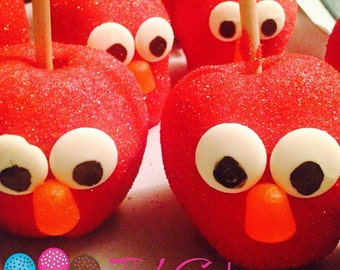 Elmo Candy Apples